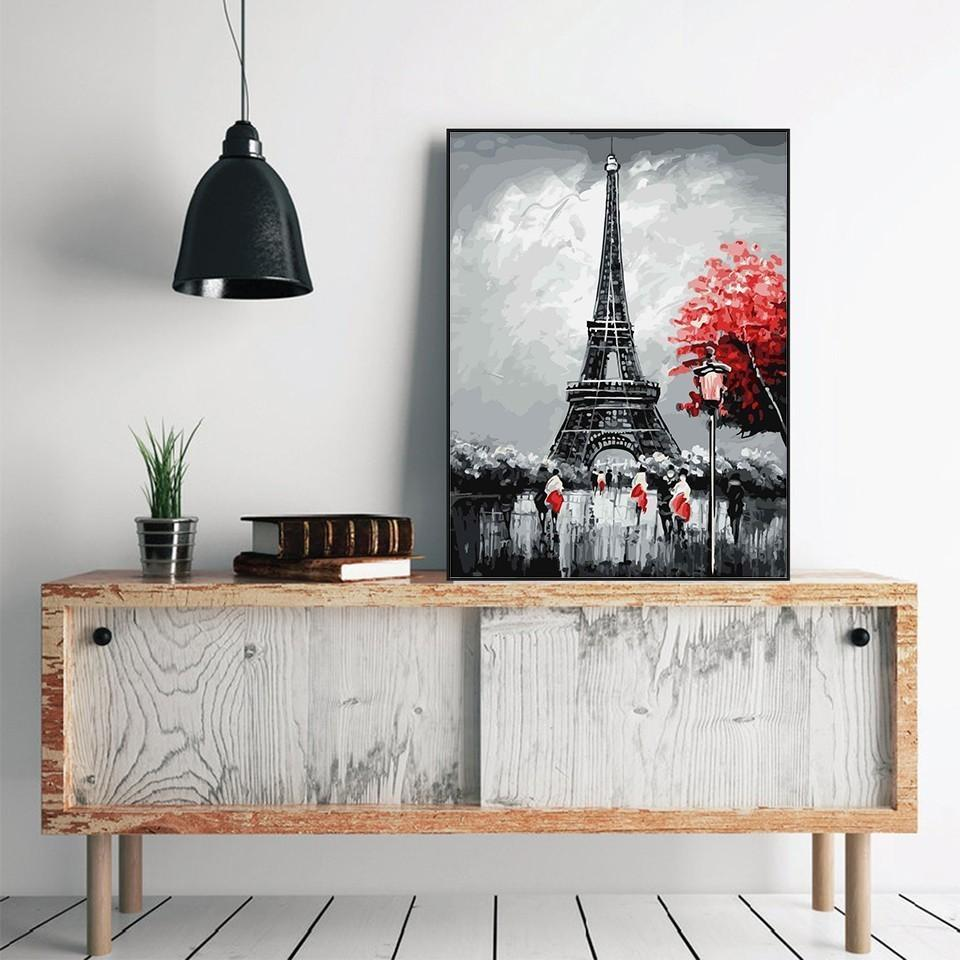 Painting of Amazing Eiffel Tower - Paint By Numbers