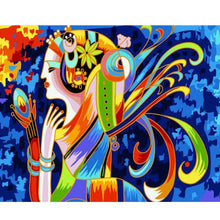 Load image into Gallery viewer, Abstract colored Painting Of Woman
