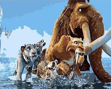 Painting Ice Age Adventure of Survival - DIY Painting