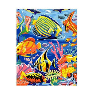 Amazing Painting of Aquatic World Paint By Numbers Kit