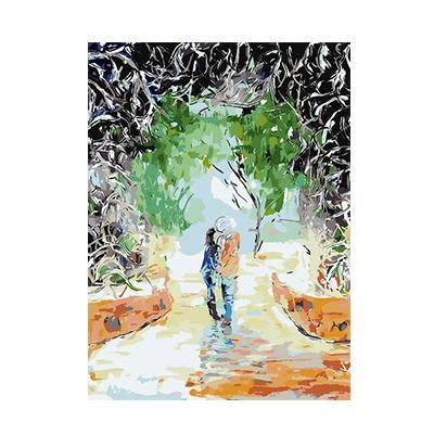 Beautiful Painting of Romantic Raining Day