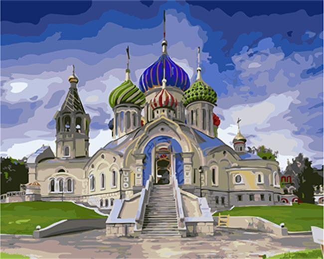 Amazing Painting of Russian Castle