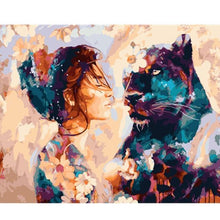 Load image into Gallery viewer, Abstract of Lady  and Hidden Panther