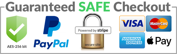 safe checkout powered by stripe and paypal