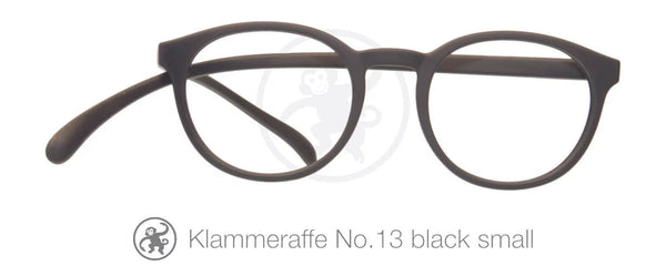 Klammeraffe Lese Brille No13 black small