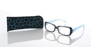 Lesebrille Safari Look blau