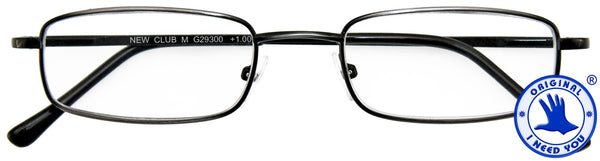 Lesebrille Club M antik silber I NEED YOU