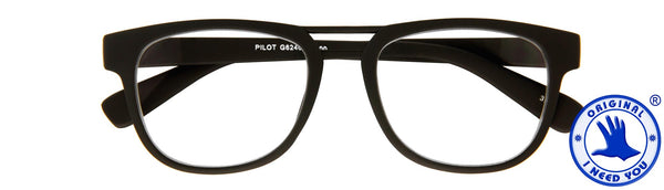 Lesebrille Pilot I need you schwarz
