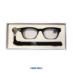 Lesebrille Checker schwarz I NEED YOU
