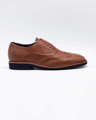 Leather Oxford Shoe - Brown