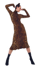 Load image into Gallery viewer, Long Sleeve Fish Tail Dress - Pantera Leopard