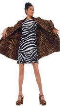 Load image into Gallery viewer, Zip Trenchcoat - Pantera Leopard