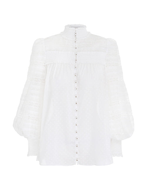 Candescent Smocked Shirt - White