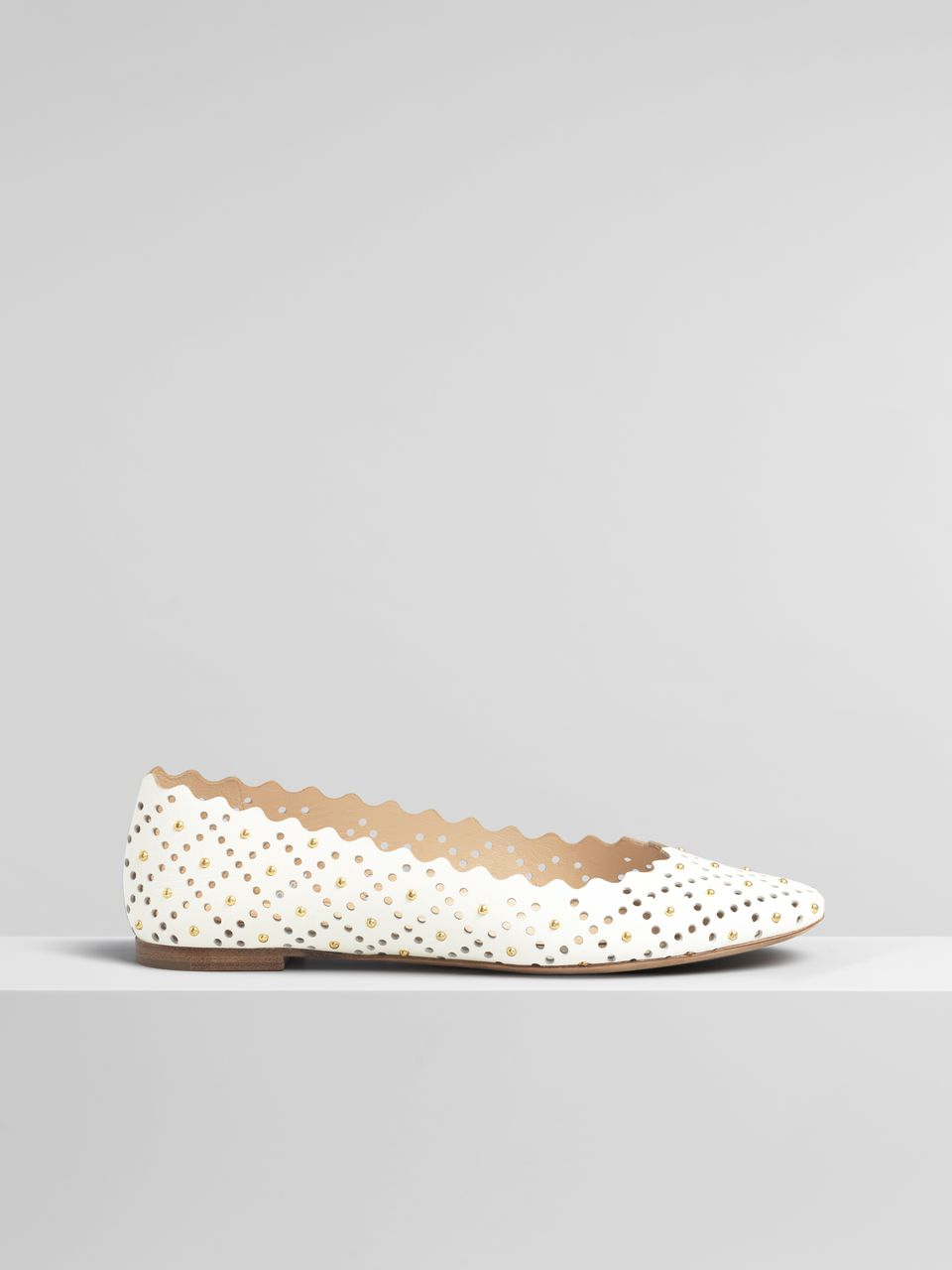 Lauren Ballerina Flat - Natural White
