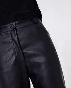 "Hailey Cropped ""Skin Free"" Skin Pants - Black"
