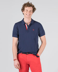 Polo Pique Short Sleeve Shirt - Navy
