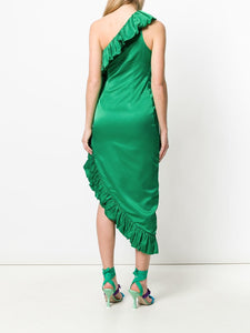 Ruffle Dress - Green