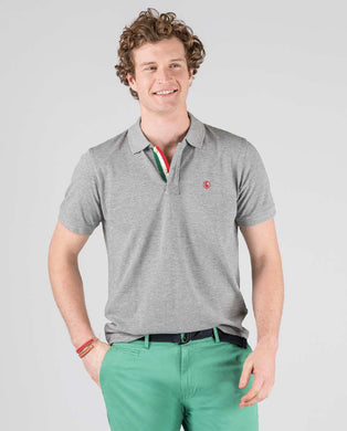 Polo Pique Short Sleeve Shirt - Grey Melange