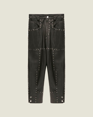 Viamao Leather Pants - Black