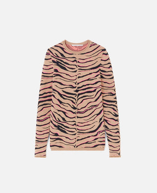 Compact Knit Top - Tiger Multi
