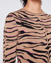 Load image into Gallery viewer, Compact Knit Top - Tiger Multi