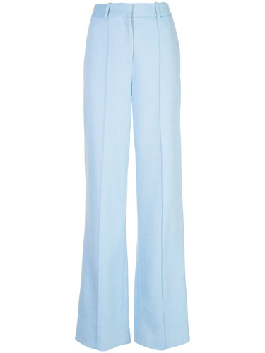Double Face Wool Trouser - Light Blue