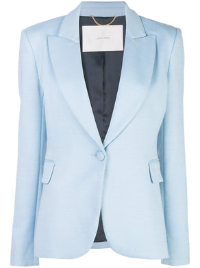 Double Face Wool Blazer - Blue