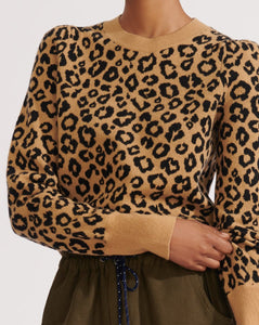 Penny Pullover Sweater - Leopard