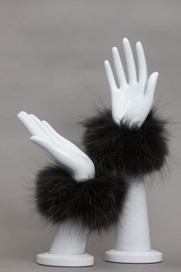 Fur Snap-on Cuffs - Black