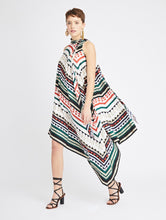 Load image into Gallery viewer, Geometric Stripes Silk Twill Dress - Multi