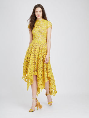 Hanky Hem Dress - Yellow