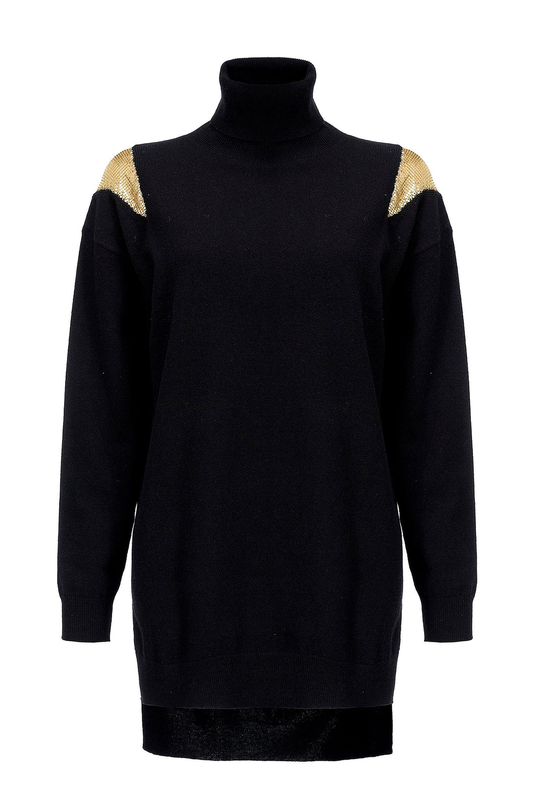 Maxi Pullover - Black/Gold Chain