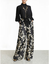 Load image into Gallery viewer, Ladybeetle Belted Pant - Black Print