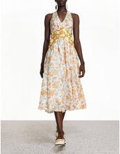 Load image into Gallery viewer, Lovestruck V-Neck Midi Dress - Mixed Roses