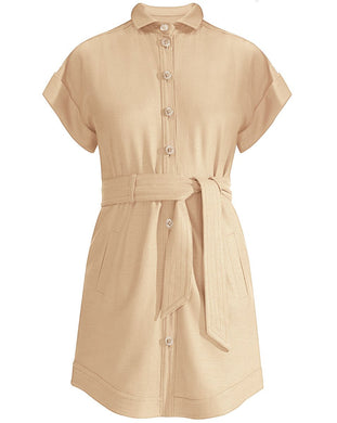 Sadia Mini Dress - Beige