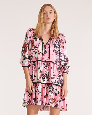 Hawken Mod Floral Dress - Pink Multi