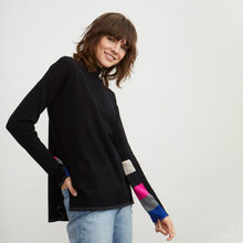 Load image into Gallery viewer, Hi-lo Funnel Neck Sweater - Black Multi