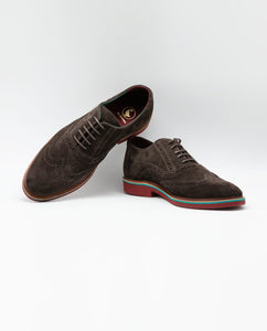 Suede Oxford Shoe - Brown