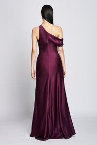 Off-the-Shoulder Gown - Plum