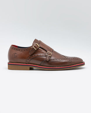 Double Buckle Monk Strap Shoe