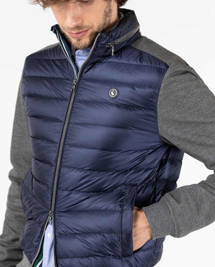 Knit Sleeve / Down Jacket - Blue/Gray
