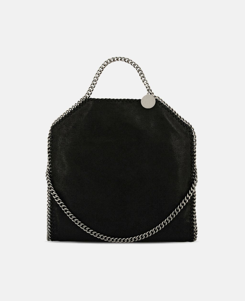 Falabella Shaggy Deer Fold Over Tote - Black
