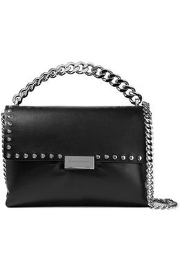 Small Studded Handbag - Black