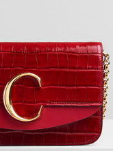 Load image into Gallery viewer, Croc 'C' Clutch - Dusky Red
