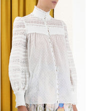 Load image into Gallery viewer, Candescent Smocked Shirt - White
