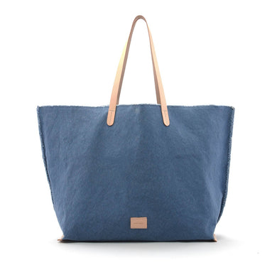 Hana Canvas/Leather Boat Bag - Horizon