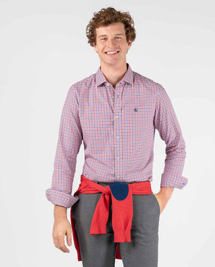 Pin Point Check Button Down - Red/Blue