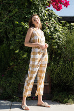 Load image into Gallery viewer, Mindy Buffalo Check Jumpsuit - Amber