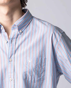 Striped Shirt W/Flag - Sky Blue