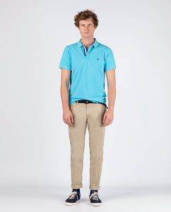Polo Pique Short Sleeve Shirt - Light Turquoise